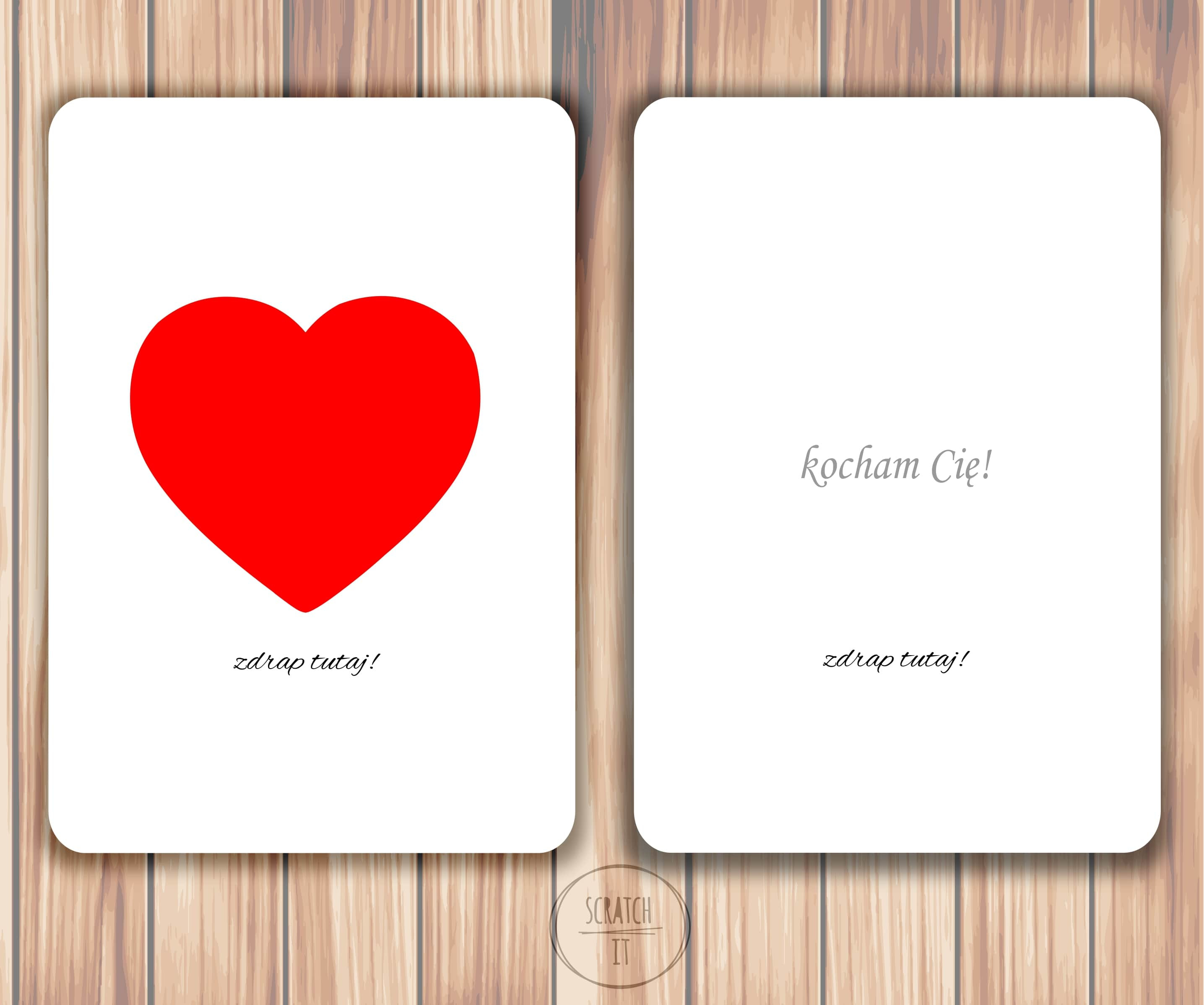 kartka zdrapka kocham, kartka dla chłopaka, kartka dla dzieczyny
