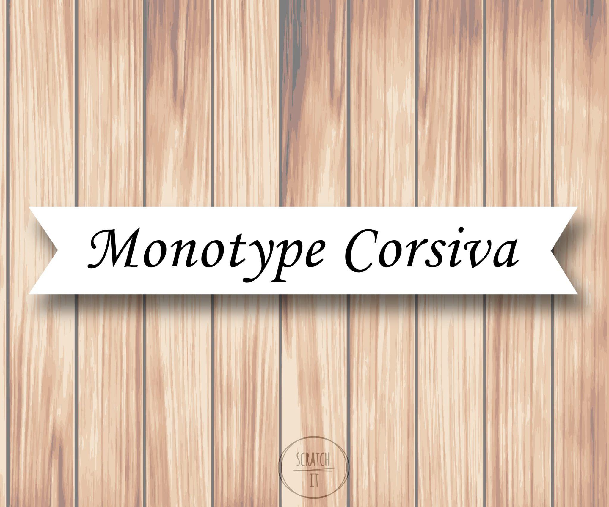 Białe winietki - flaga - MONOTYPE CORSIVA