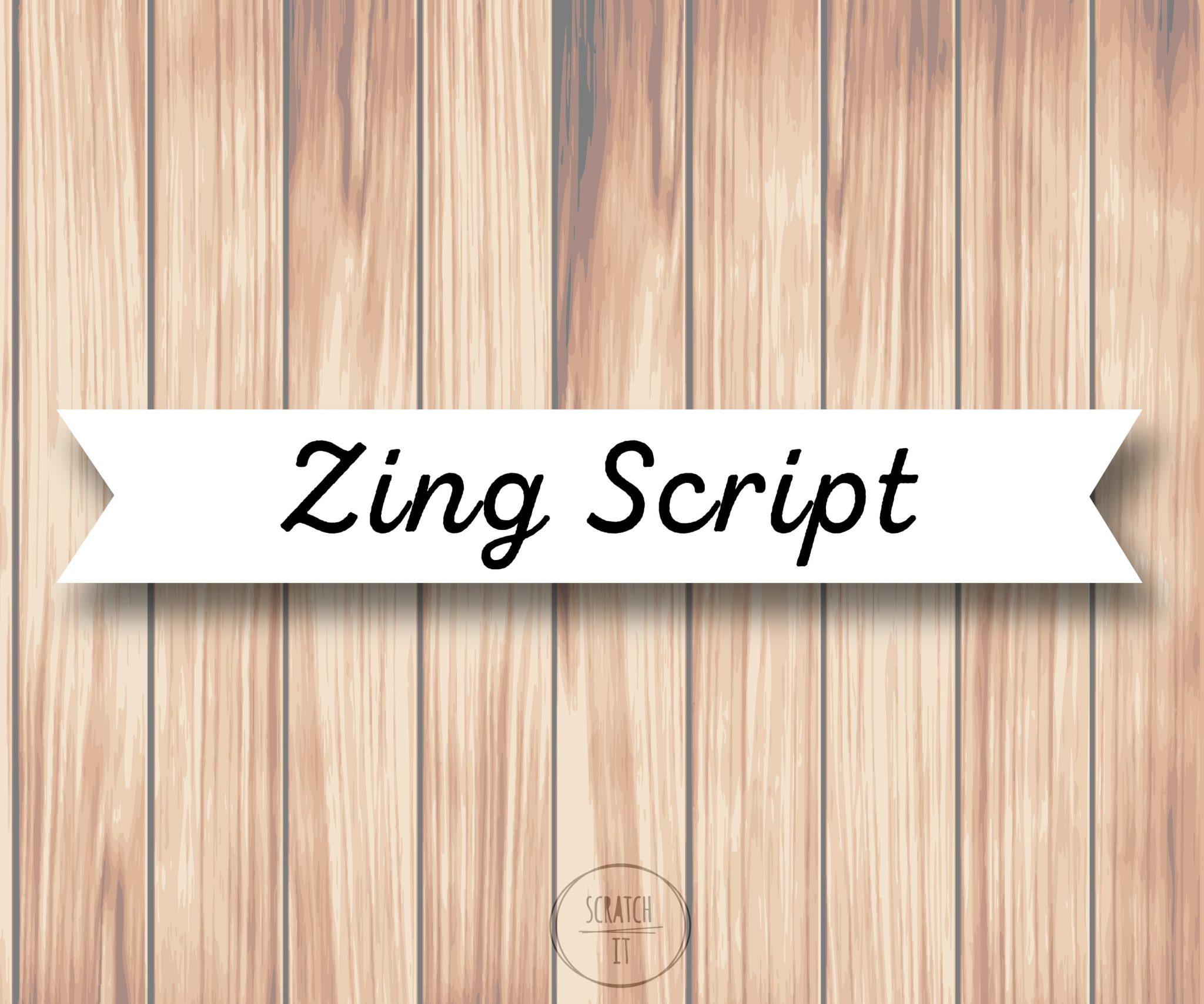 Białe winietki - flaga - ZING SCRIPT