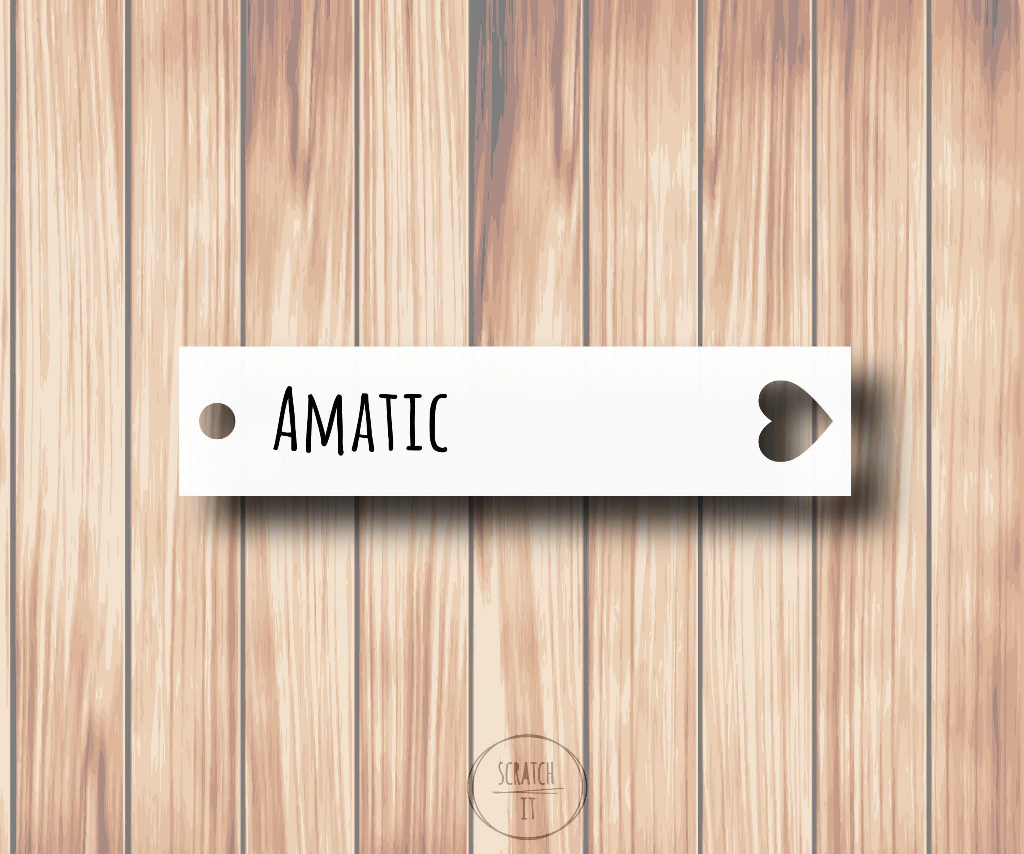 Białe winietki - zawieszka - AMATIC