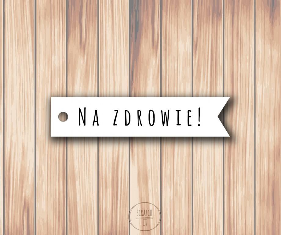 Biale zawieszki - flagi - AMATIC