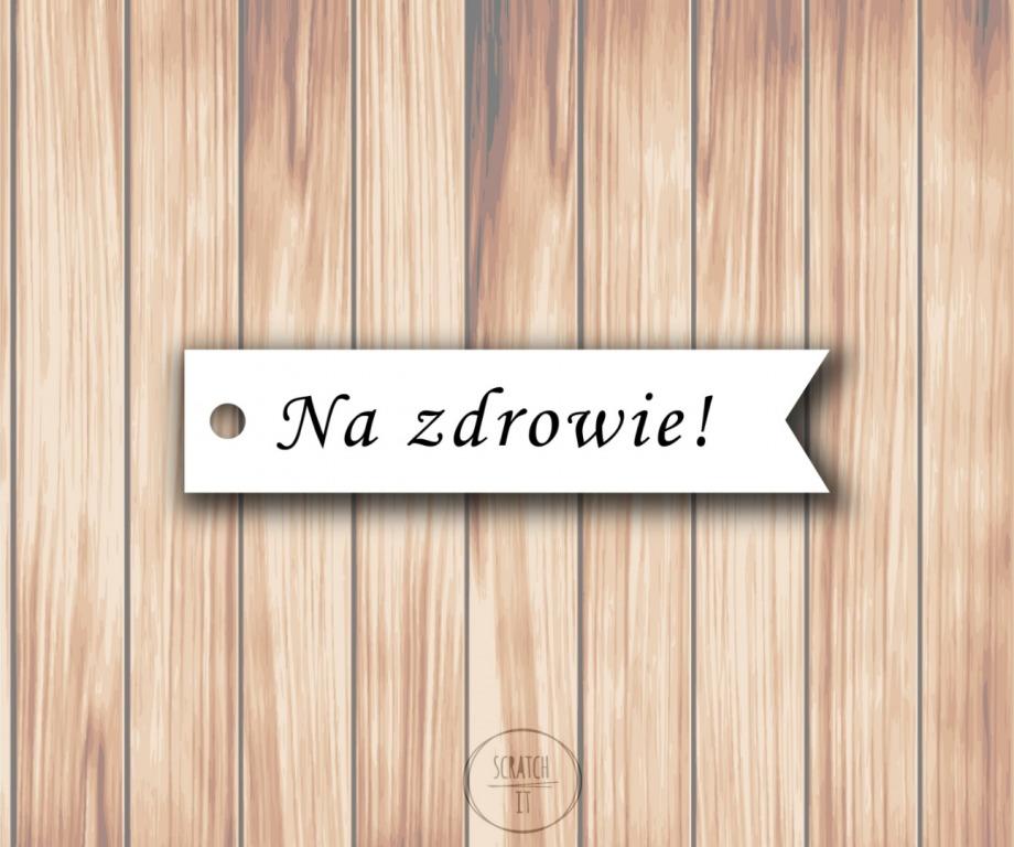 Biale zawieszki - flagi - MONOTYPE CORSIVA