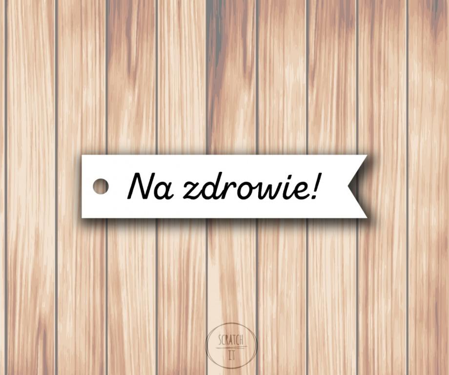 Biale zawieszki - flagi - ZING