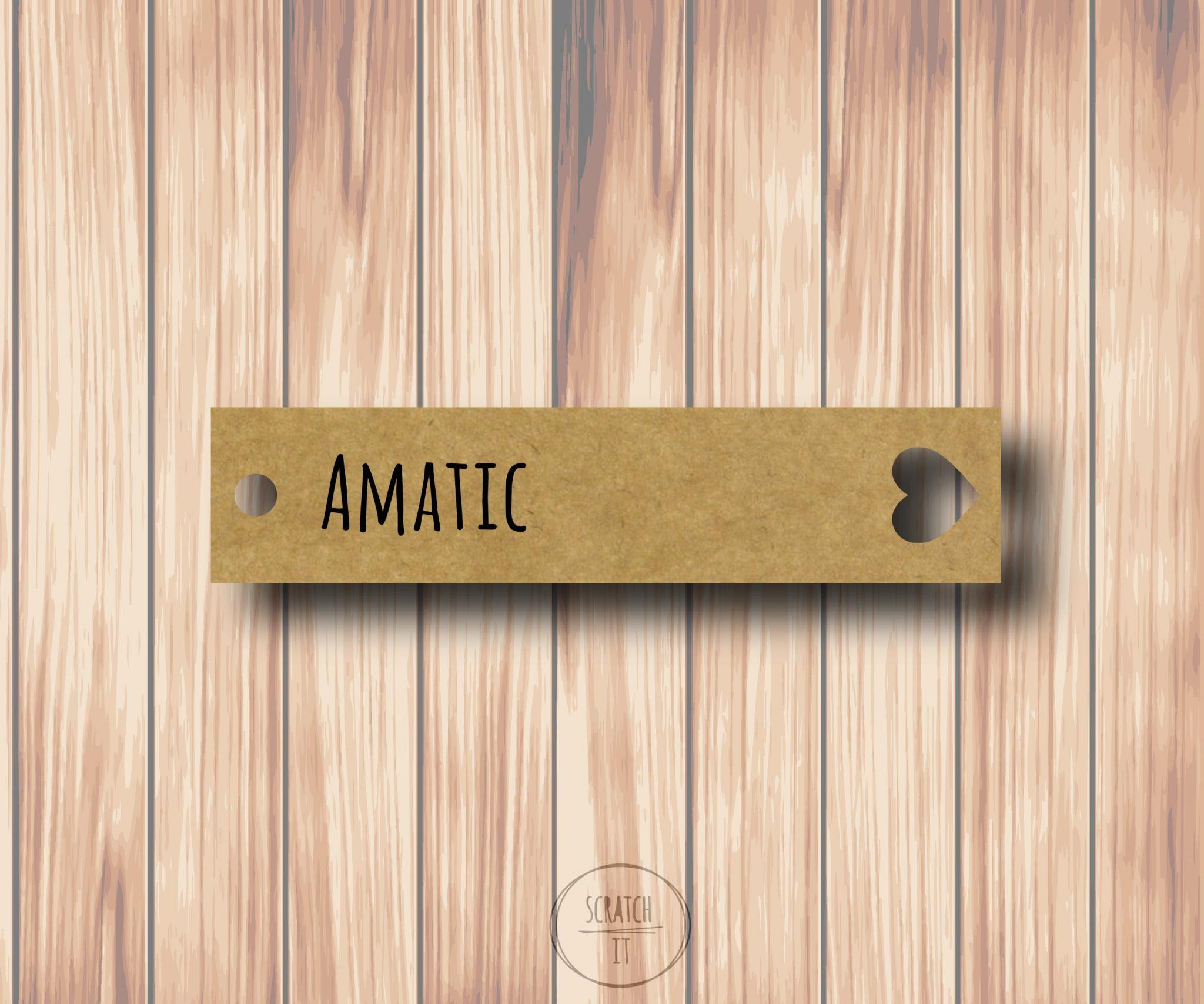 Eco winietki - zawieszka - AMATIC