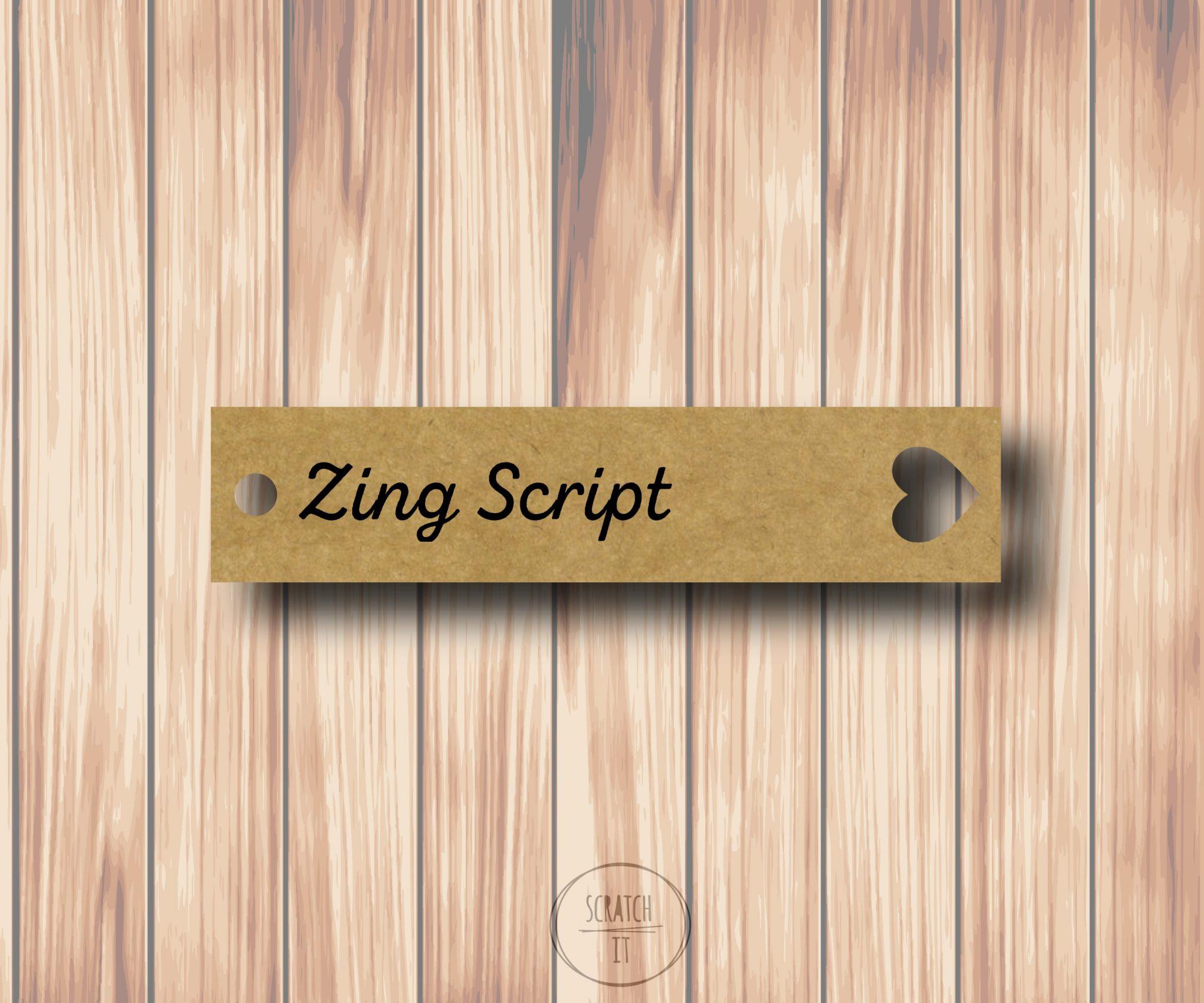 Eco winietki - zawieszka - ZING